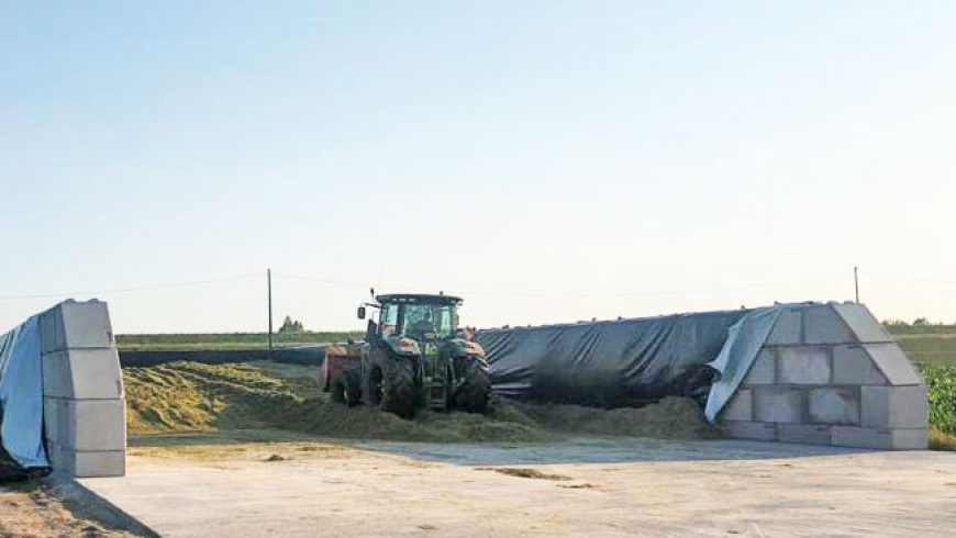 Baia per insilaggio ad uso agricolo